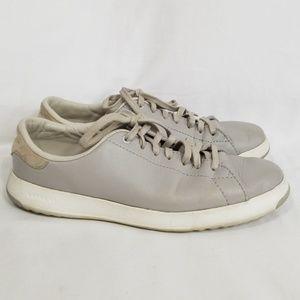 Cole Haan Granpro Leather Tennis Sneaker Silverfox